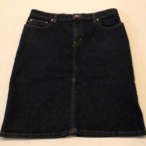 Ralph Lauren Denim Pencil Skirt Front Slit size 10